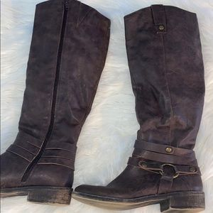 Style&Co Below knee brown ankle boots